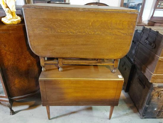 TWO DROP LEAF TABLES