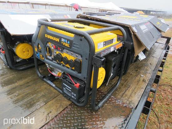 FIREMAN DUAL FUEL GENERATOR, 7500 WATT, GAS OR LPG