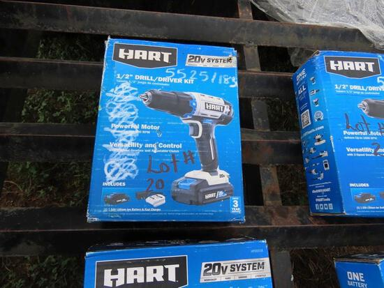 """HART 20v 1/2"""" DRILL WITH CHARGER"""