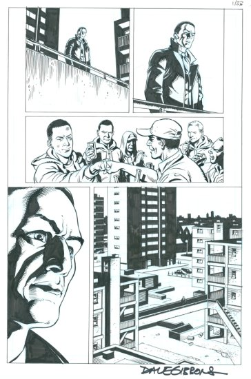 DAVE GIBBONS. THE SECRET SERVICE. ISSUE 1, PAGE 23. PENCILS AND INKS BY DAVE GIBBONS