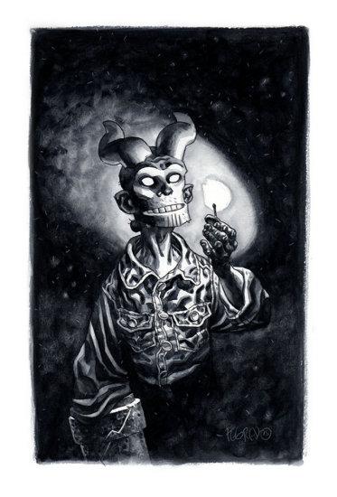 DUNCAN FEGREDO - HELLBOY INK DRAWING FROM NEW HELLBOY SKETCHBOOK