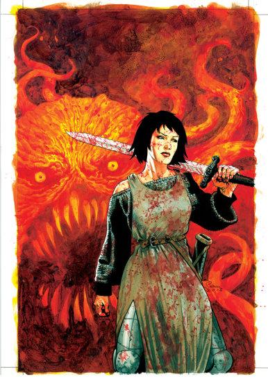 SEAN PHILLIPS - 'FATALE' BOOK 3. ORIGINAL COVER ILLUSTRATION