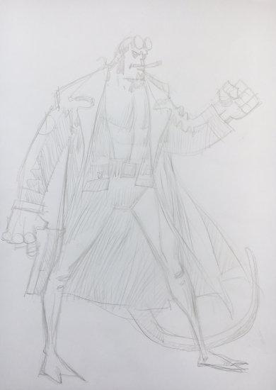 Mick McMahon draws Hellboy