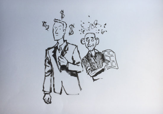 Craig Thompson draws Craig Thompson