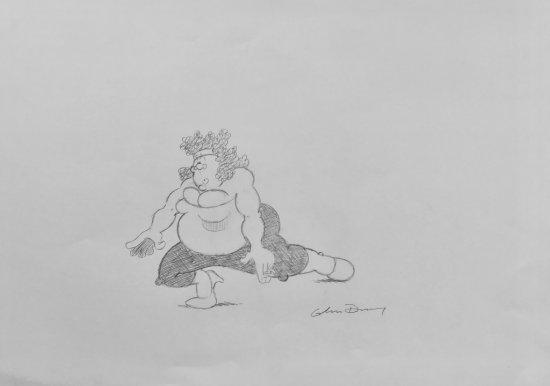 Viz - Fat Slag in Superhero Pose by Graham Dury