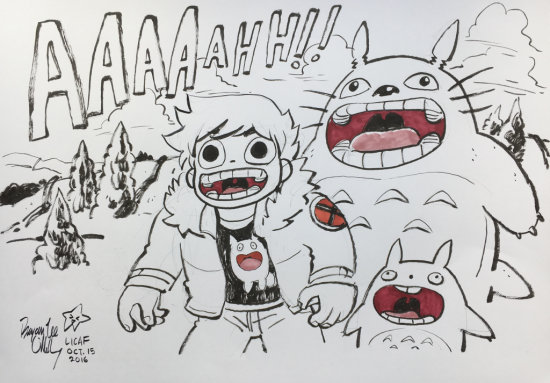 Bryan Lee O'Malley Homage to Miyazaki