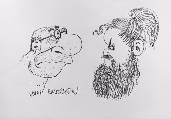 Hunt Emerson Self Portrait with Petteri Tikkanen