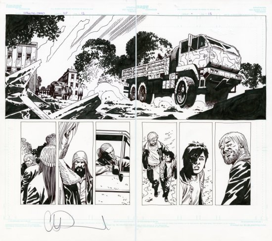 The Walking Dead, Issue 107 pages 12 and 13
