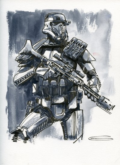 Star Wars: Rogue One - Death Trooper Watercolour