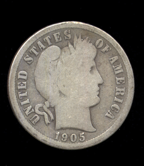 1905-S ... Barber Dime