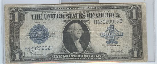 SERIES 1923 LARGE SIZE $1 SILVER CERTIFICATE