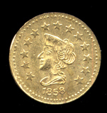 1858 ... 1/2 Dollar Cal Gold Coin