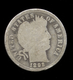 1892 ... 1st Year of Issue ... Barber Dime