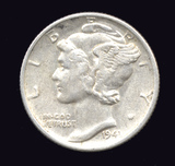 1941-S ... Better Grade ... Mercury Dime
