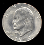 1974-D ... UNC ... Ike Dollar