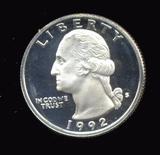 1992-S ... Proof Silver Quarter