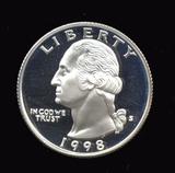 1998-S ... Proof Silver Quarter