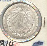 MEXICO 1938 SILVER 1 PESO