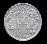 1944 ... 50 Centimes ... France