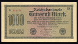 1000 Marks ... Old German Reichs Bank Note