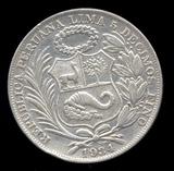 1934 ... Peru ... Un Sol ... Large Silver Coin