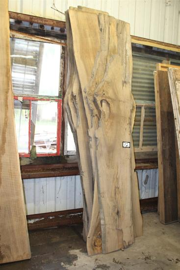 """Lot of 6 locally salvaged Live Edge Sinker Cypress """"skins"""" ; approximately 1"""" x 12-22"""" wide x 10'"""