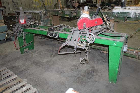 Ruvo DBL End Trim Saw Model 808 Serial #1752