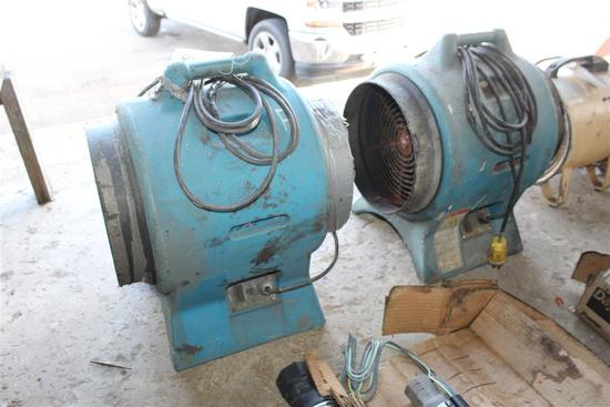 AMERIC LOT OF 2 AIR MOVERS 110 VOLT
