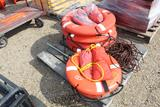 Lot of Life Vest, Rope and Rings