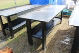 Heavy Duty Steel Shop Table