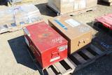 (2) Metal Storage Boxes