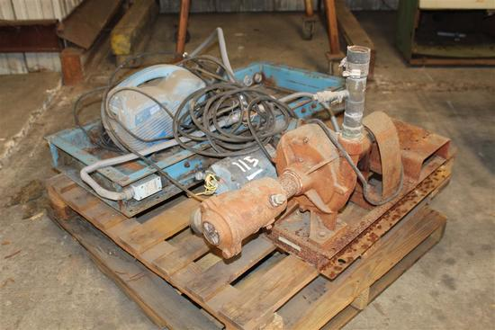 PALLET W/SUCTION DIFFUSER, ELEC MOTOR, PRESSURE WASHER