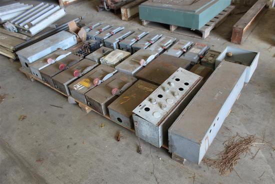 PALLET OF ELECTRICAL BOXES