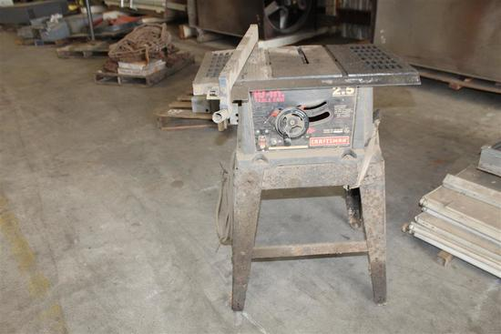 """10"""" CRAFTSMAN TABLESAW ON STAND"""