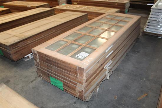 "(10) 1 ¾ X 32""""X96"" Fir  Glass Window Doors"