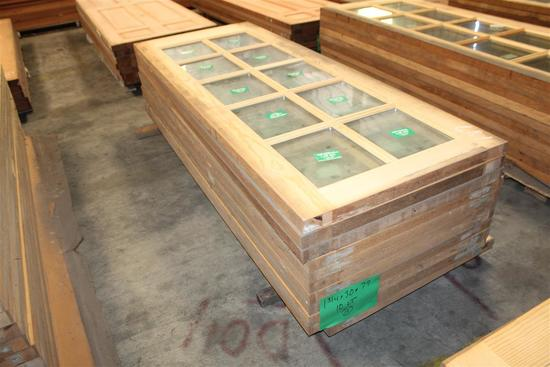 "(10) 1 3/4""X30""X79"" Glass Window Pine Doors"