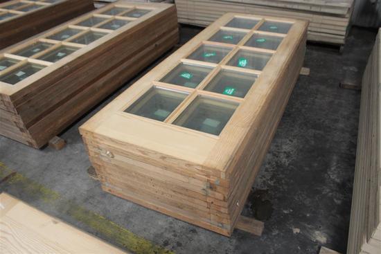"""(10) 1 3/4""""X30""""X79"""" Glass Window Pine Doors"""