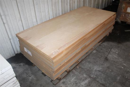 "(9) 1 3/4""X35 13/16""X79 5/8"" Solid Core Birch Doors"