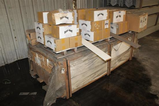 Lot of Door and Window Sill Pan Flashing, (aprx 20) Sill Plates, and Primed MDF Jamb/Casing
