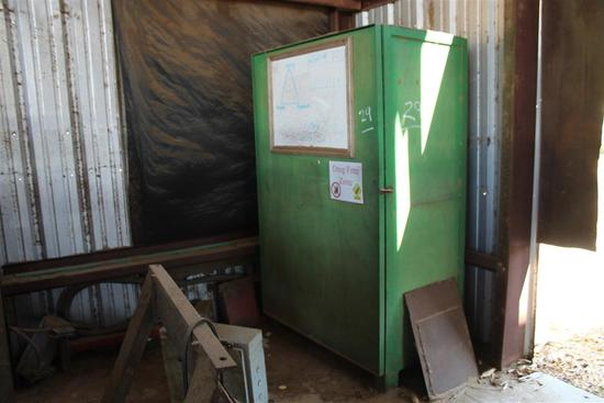 "Metal/Wood Storage Cabinet, 24"" D x 48"" W x 6"" Tall"