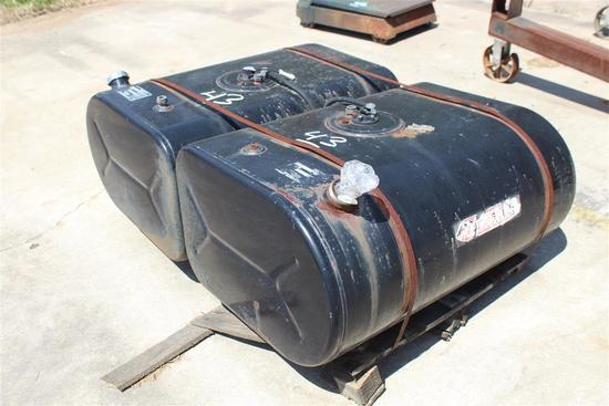 LOT OF (2) 55 GAL DSL TANKS