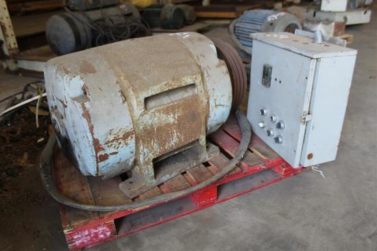 WESTINGHOUSE 80HP ELECTRIC MOTOR W/ELECTRIC BOX