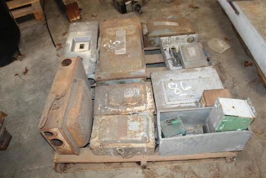 LOT OF ELECTRICAL PANELS