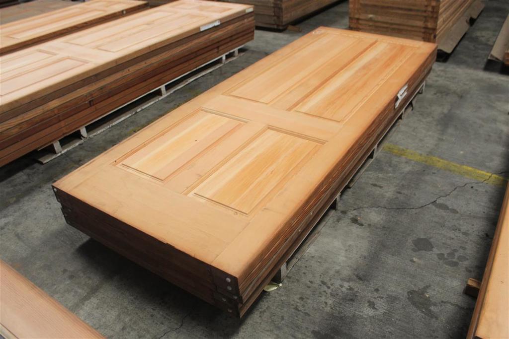 "(5) 1 3/4""x30""x96 4 Panel Fir Solid Doors"
