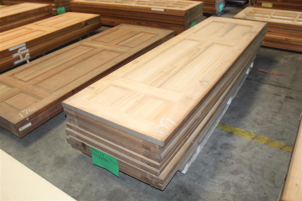 """(10) 1 3/8"""" X 28""""X96"""" 6 Panel Solid Pine Doors"""