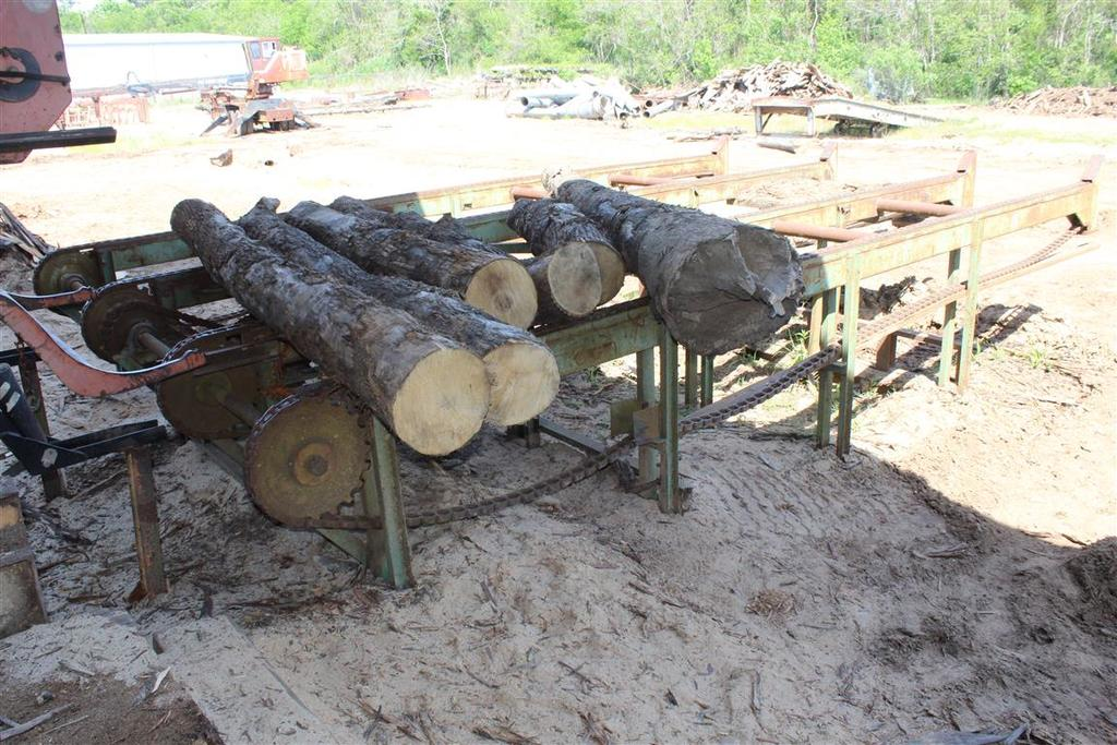 INFEED LOG DECK, 13' W x 22' L, Motor Driven, 4 Chain