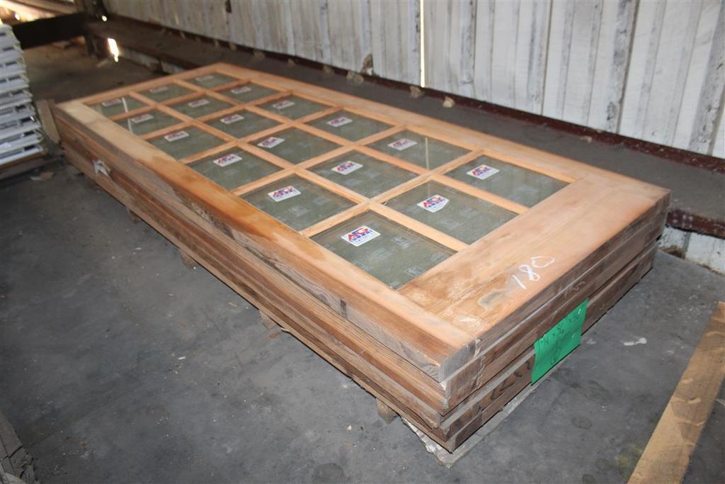 """(6) 1 3/4""""X36""""X96"""" Fir Glass Window Doors"""