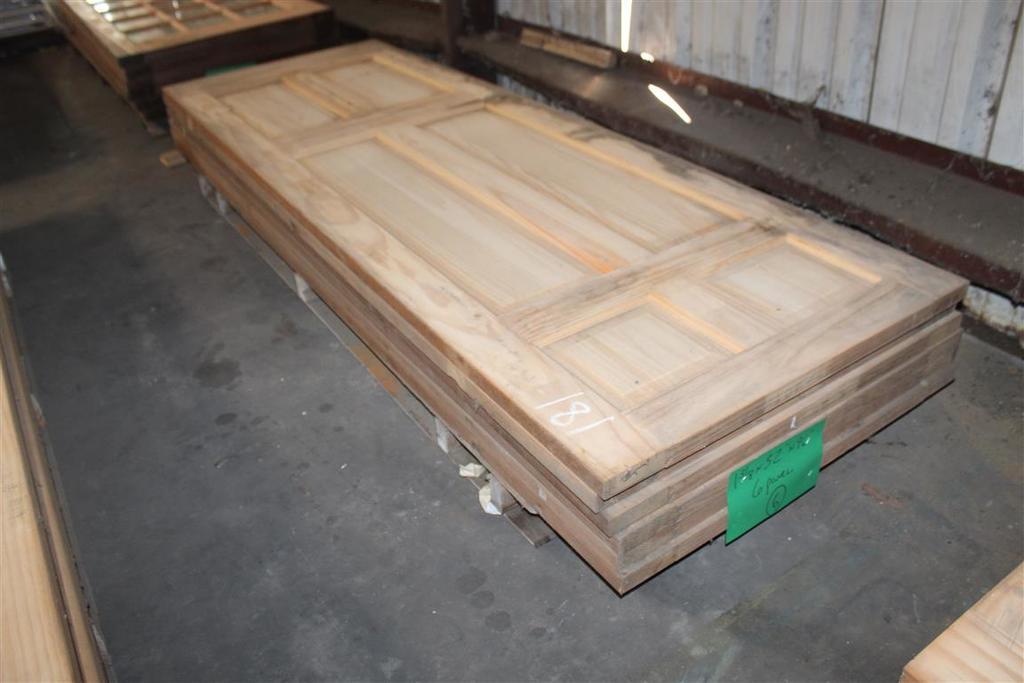 """(6) 1 3/8""""X32""""X96"""" 6 Panel Solid Pine Doors"""