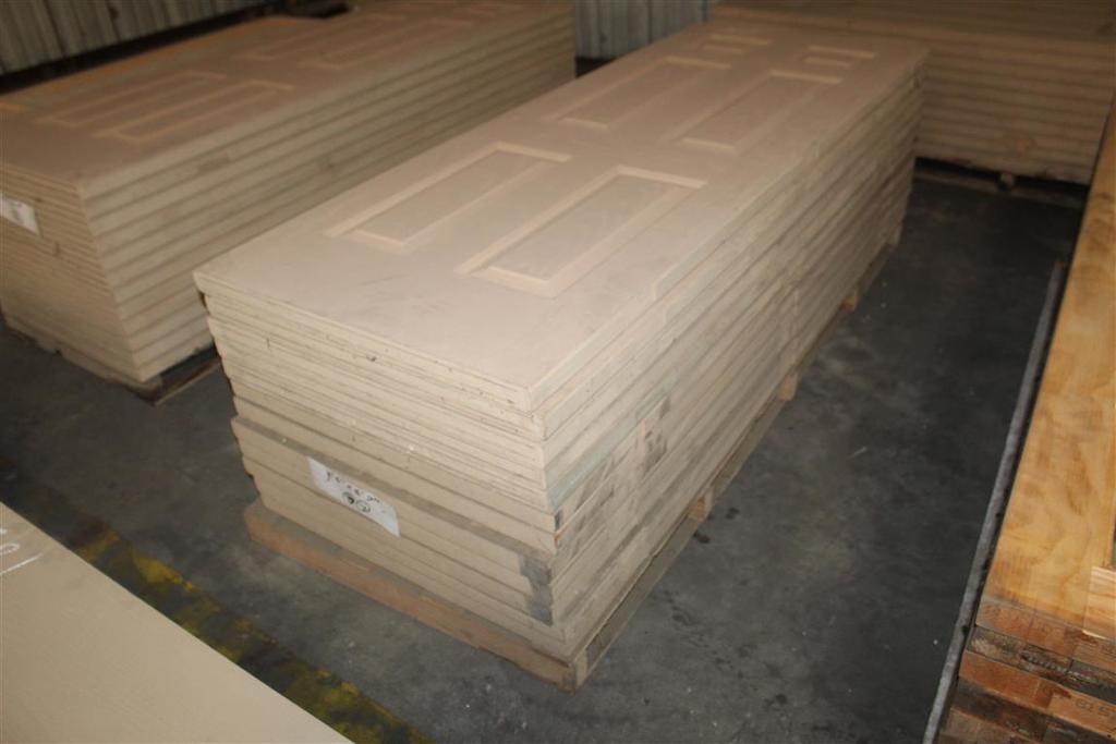 "(12) 1 3/4""x30""x79"" 6 Panel Fiberglass Doors"