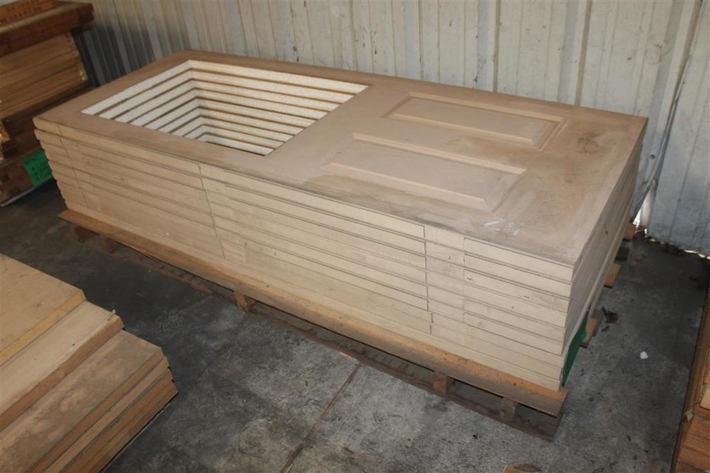 "(9) 1 3/4""X32""X79"" 2 Panel Fiberglass Doors"